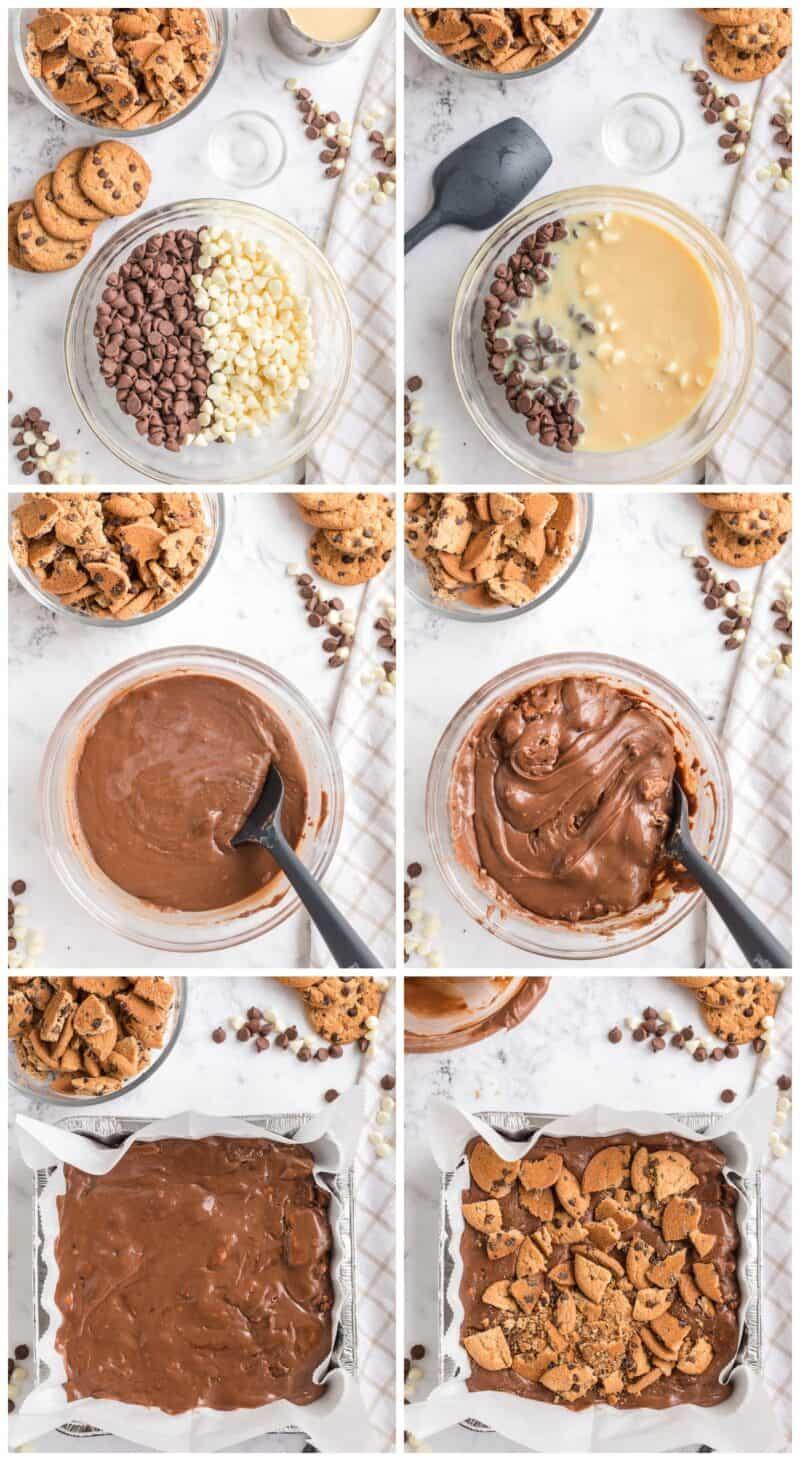 how to make chocolate chip cookie fudge