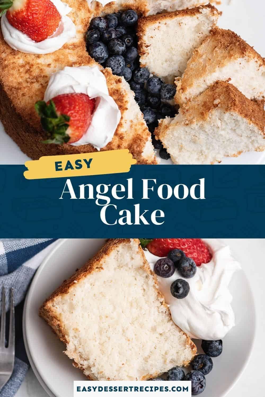 angel food cake pinterest collage
