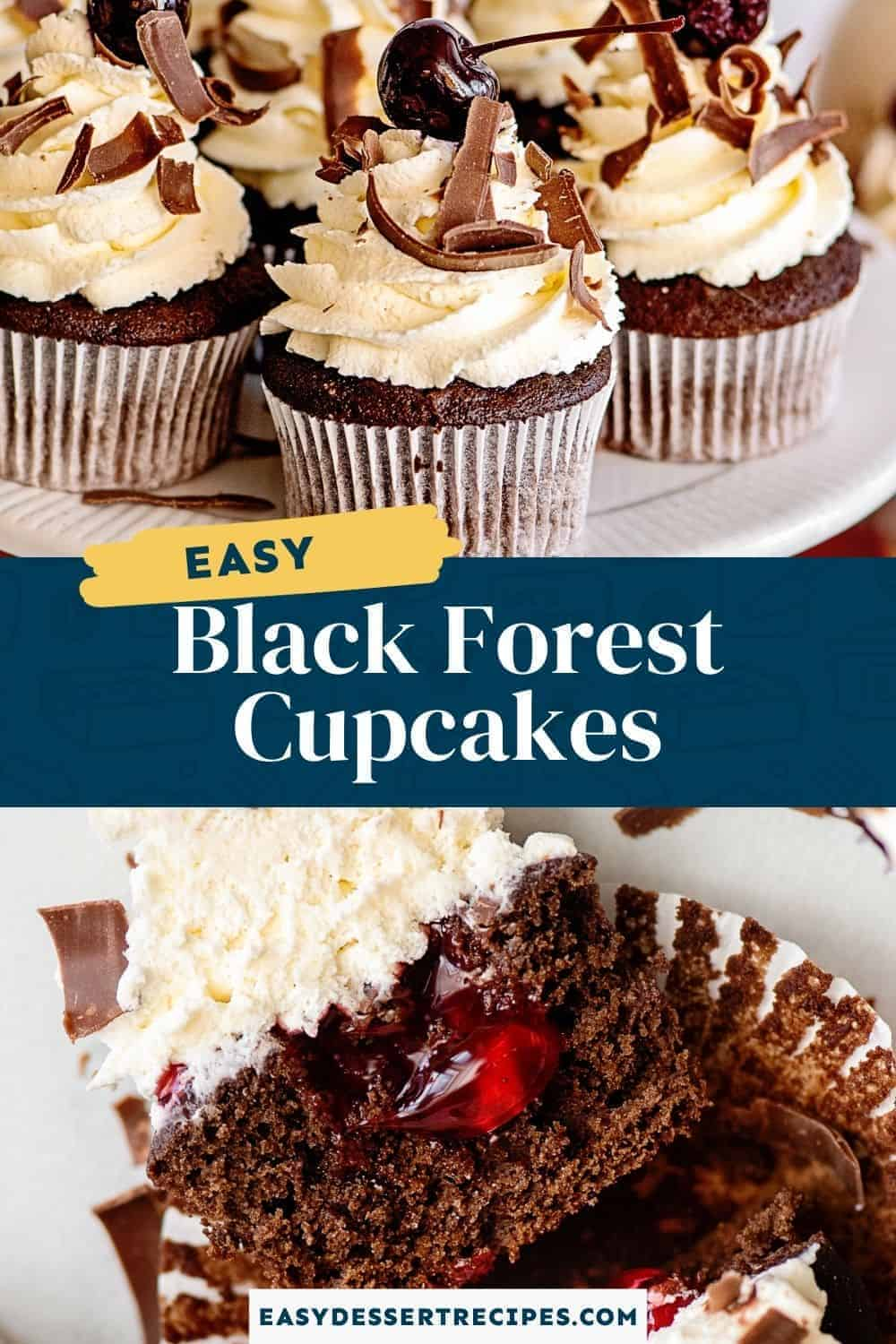 black forest cupcakes pinterest collage