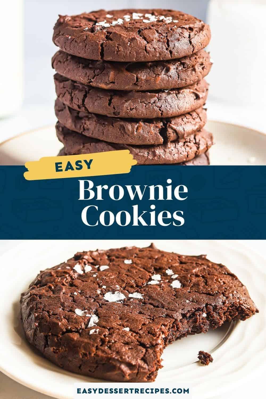 brownie cookies pinterest collage