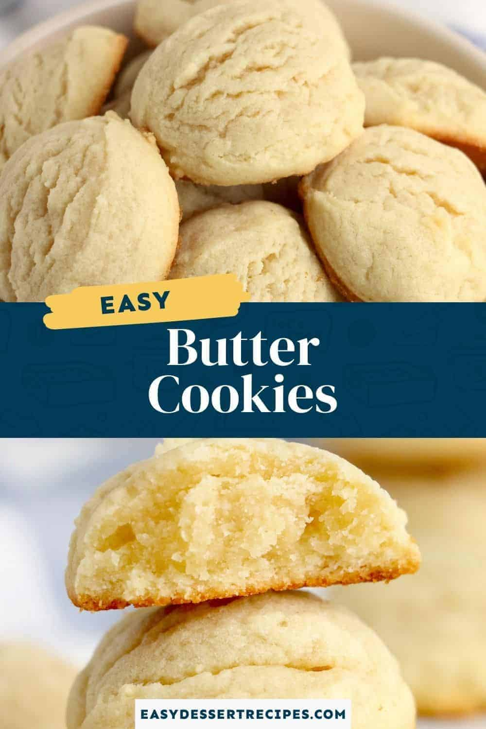 butter cookies pinterest collage