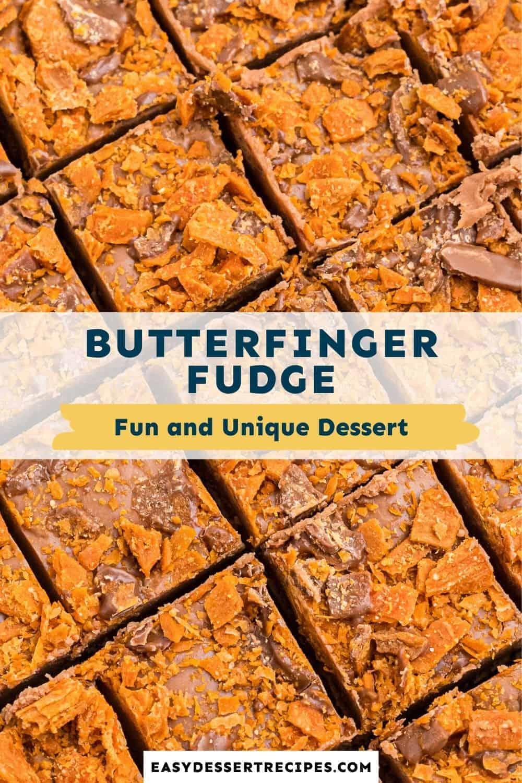 butterfinger fudge pinterest collage