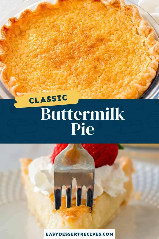 buttermilk pie pinterest collage