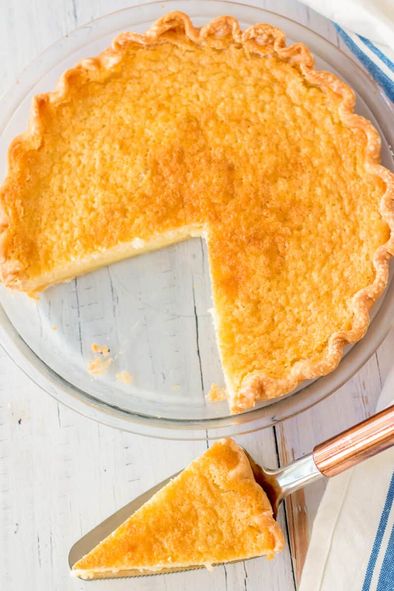 slice out of buttermilk pie