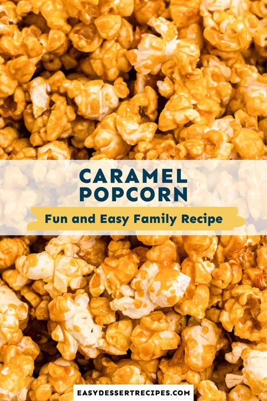 caramel popcorn pinterest collage
