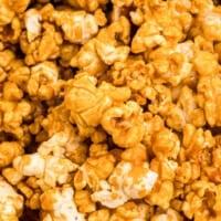 up close caramel popcorn