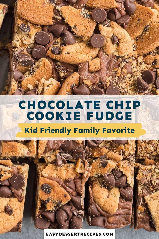 chocolate chip cookie fudge pinterest collage