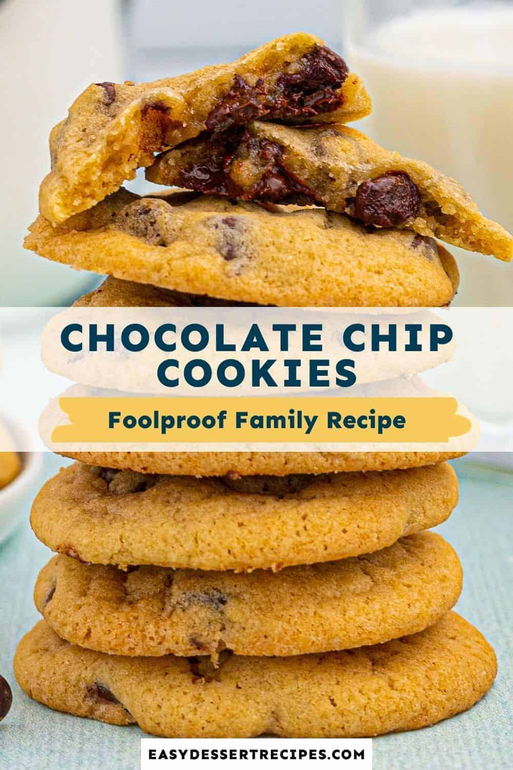 chocolate chip cookies pinterest collage