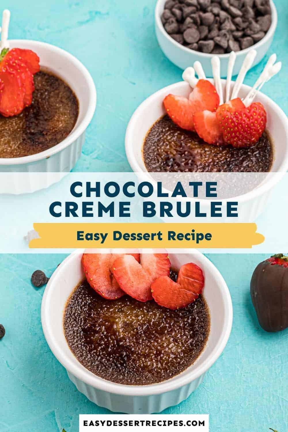 chocolate creme brulee pinterest collage