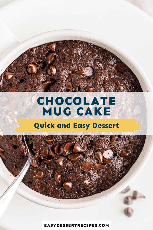 chocolate mug cake pinterest collage