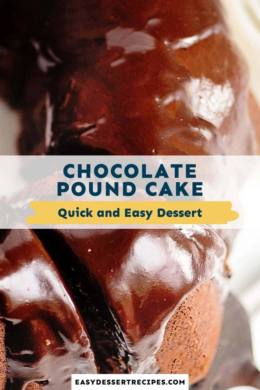 chocolate pound cake pinterest collage