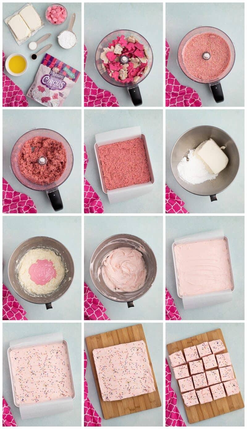 how to make no bake circus cookie cheesecake