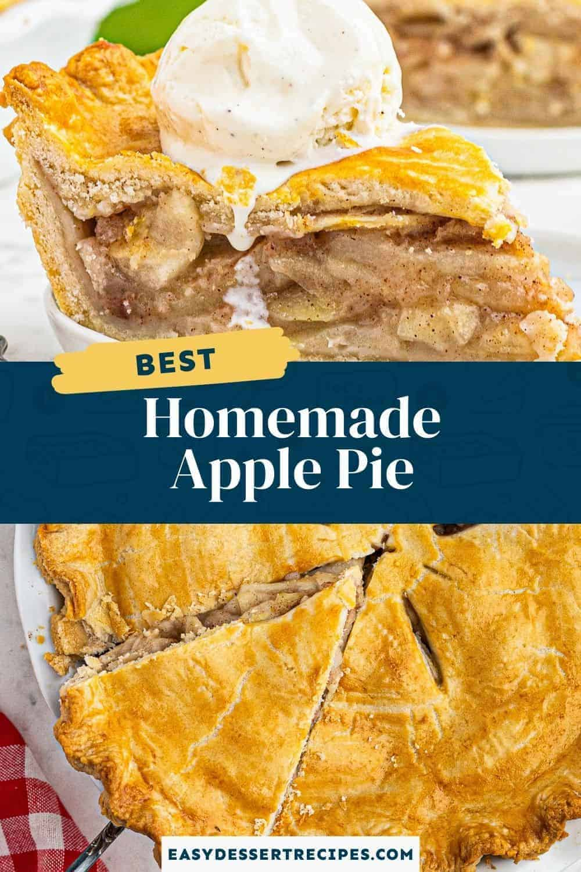 homemade apple pie recipe pinterest collage