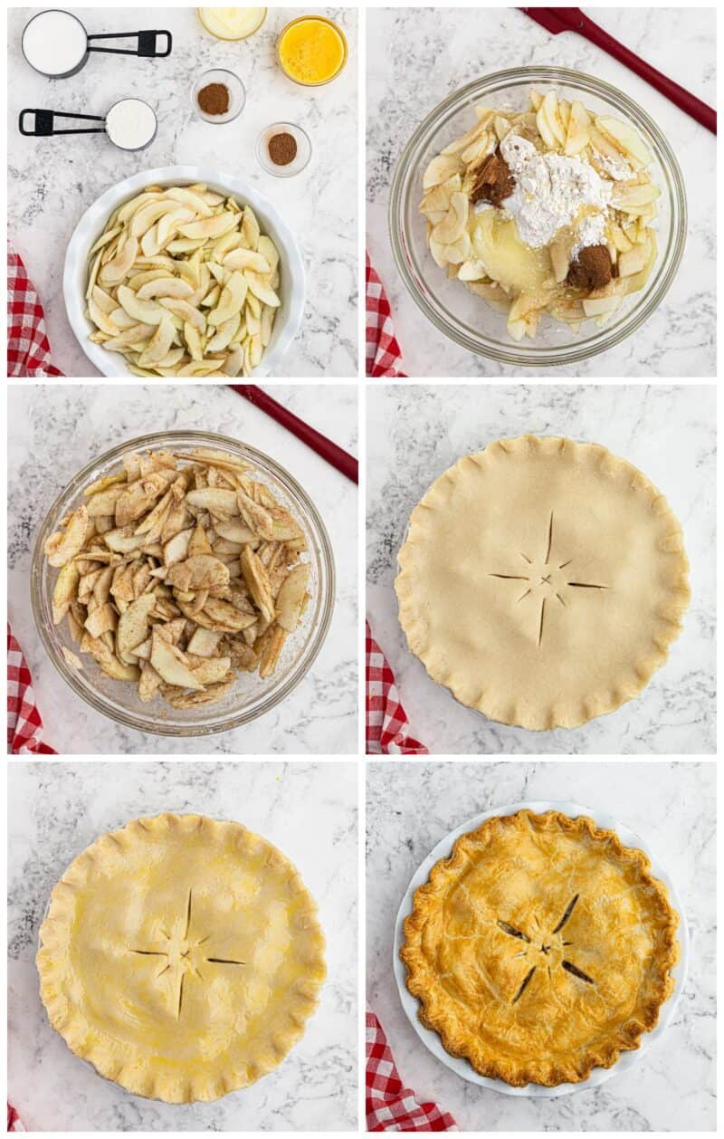 step by step photos for how to make apple pie
