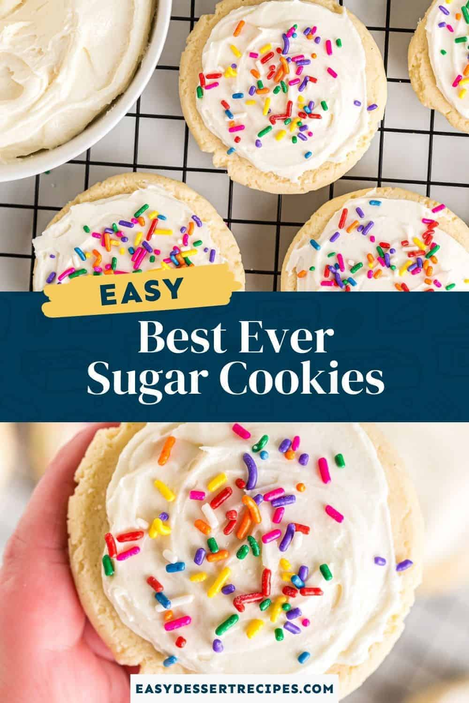 best sugar cookies pinterest collage