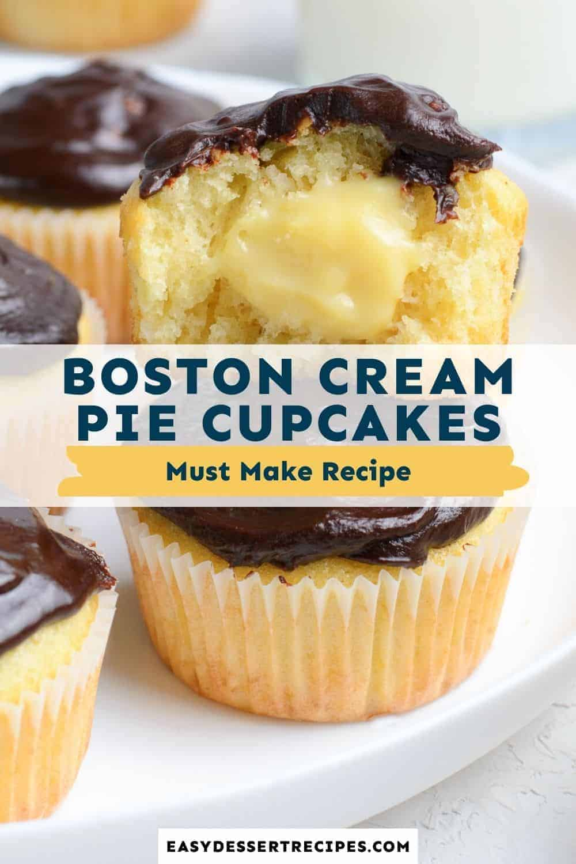 boston cream pie cupcakes pinterest collage