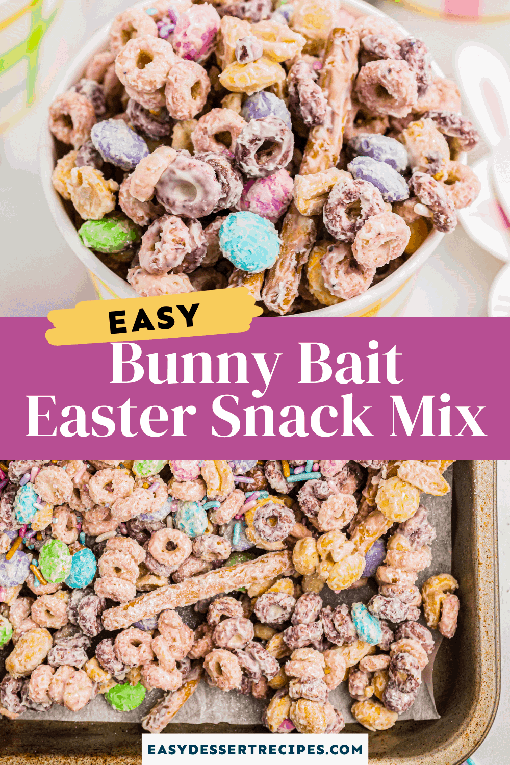 bunny bait easter snack mix pinterest collage
