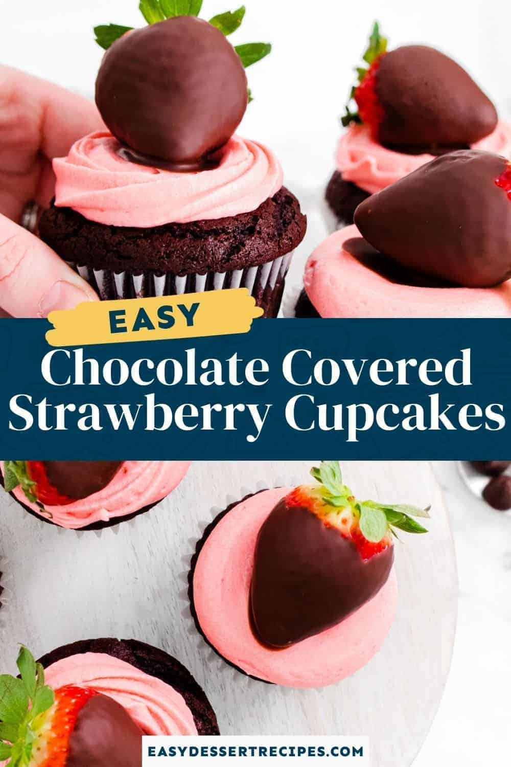 chocolate covered strawberry cupcakes pinterest collage