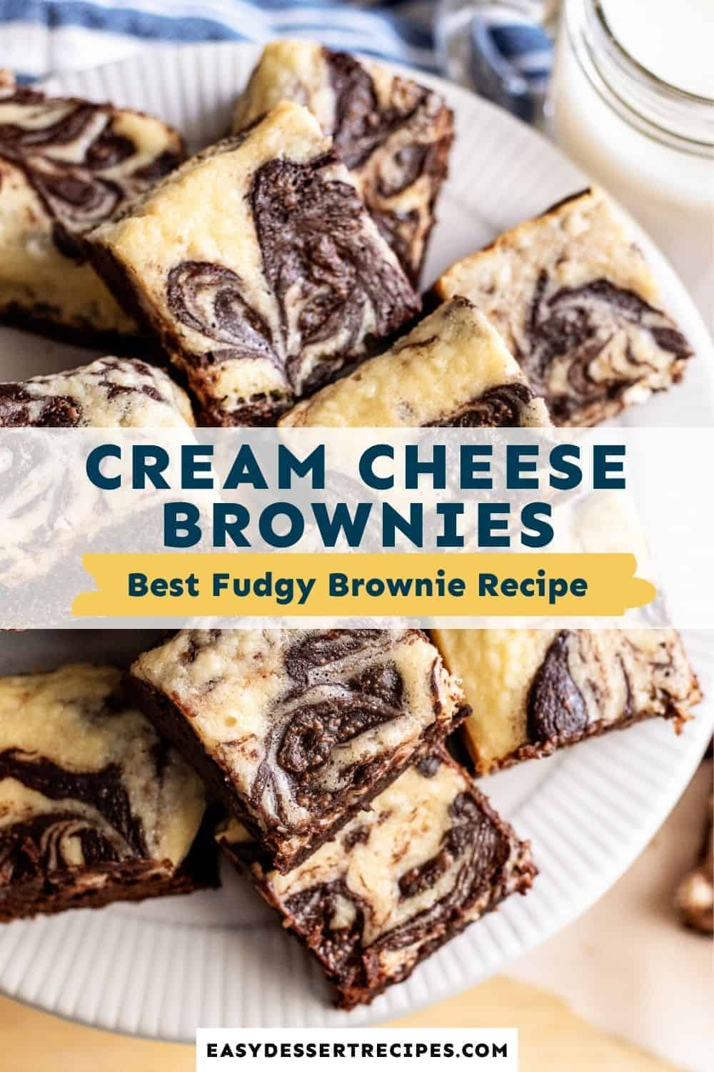cream cheese brownies pinterest collage