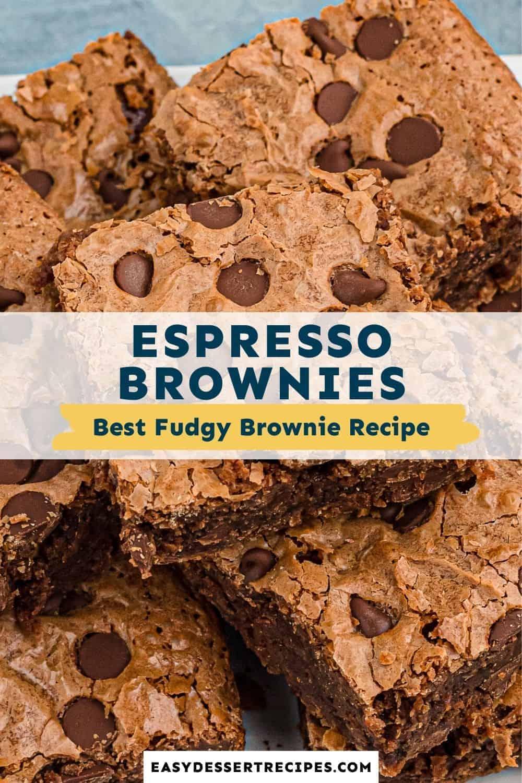 espresso brownies pinterest collage