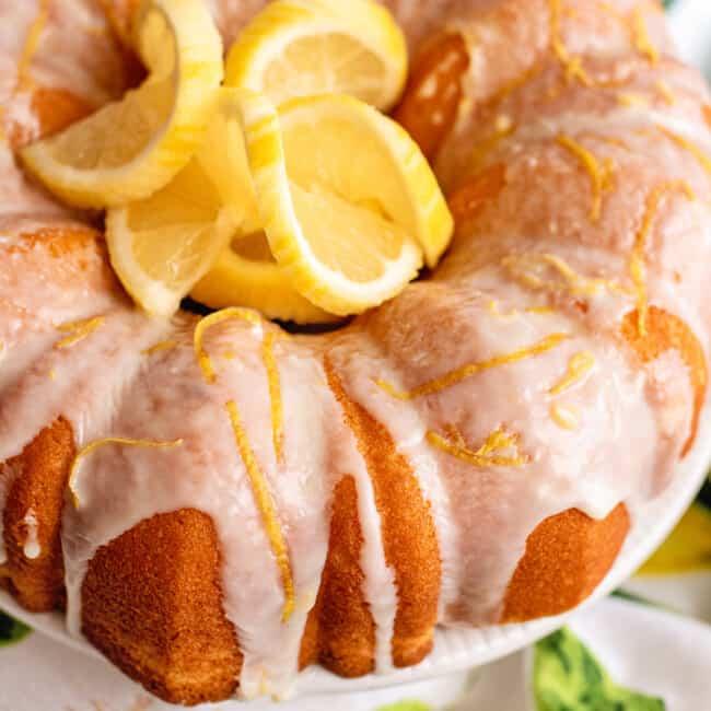 lemon bundt cake featured image