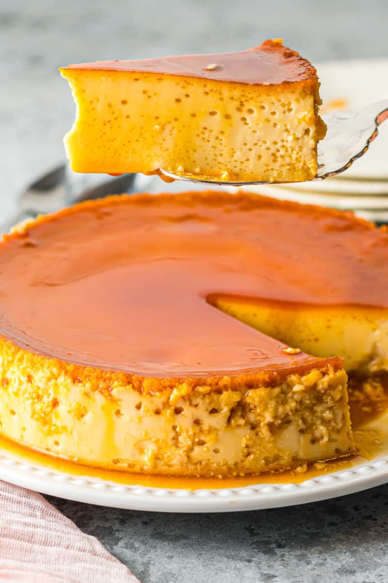 slice out of flan