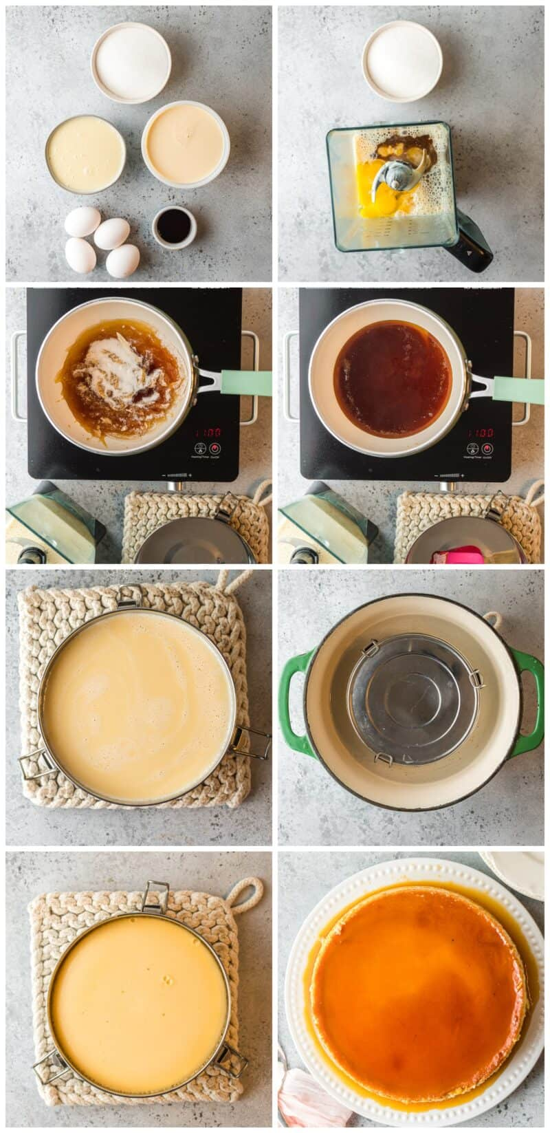 step by step photos for how to make flan
