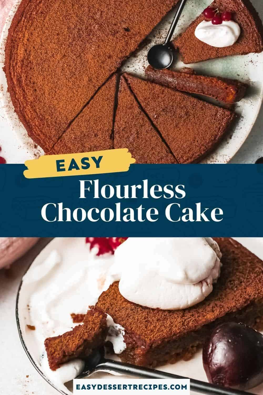 flourless chocolate cake pinterest