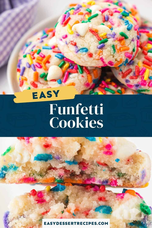 funfetti cookies pinterest collage