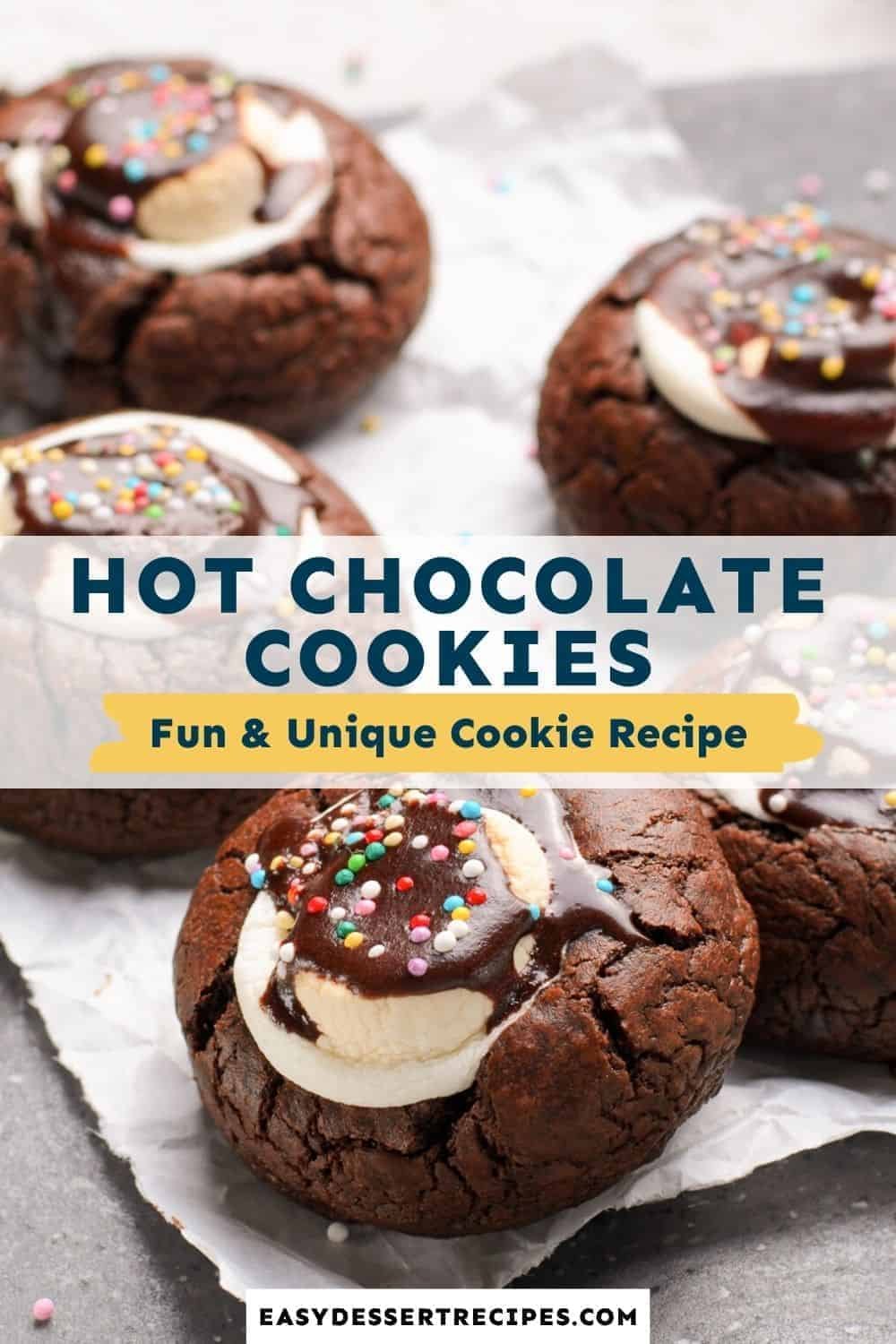 hot chocolate cookies pinterest collage
