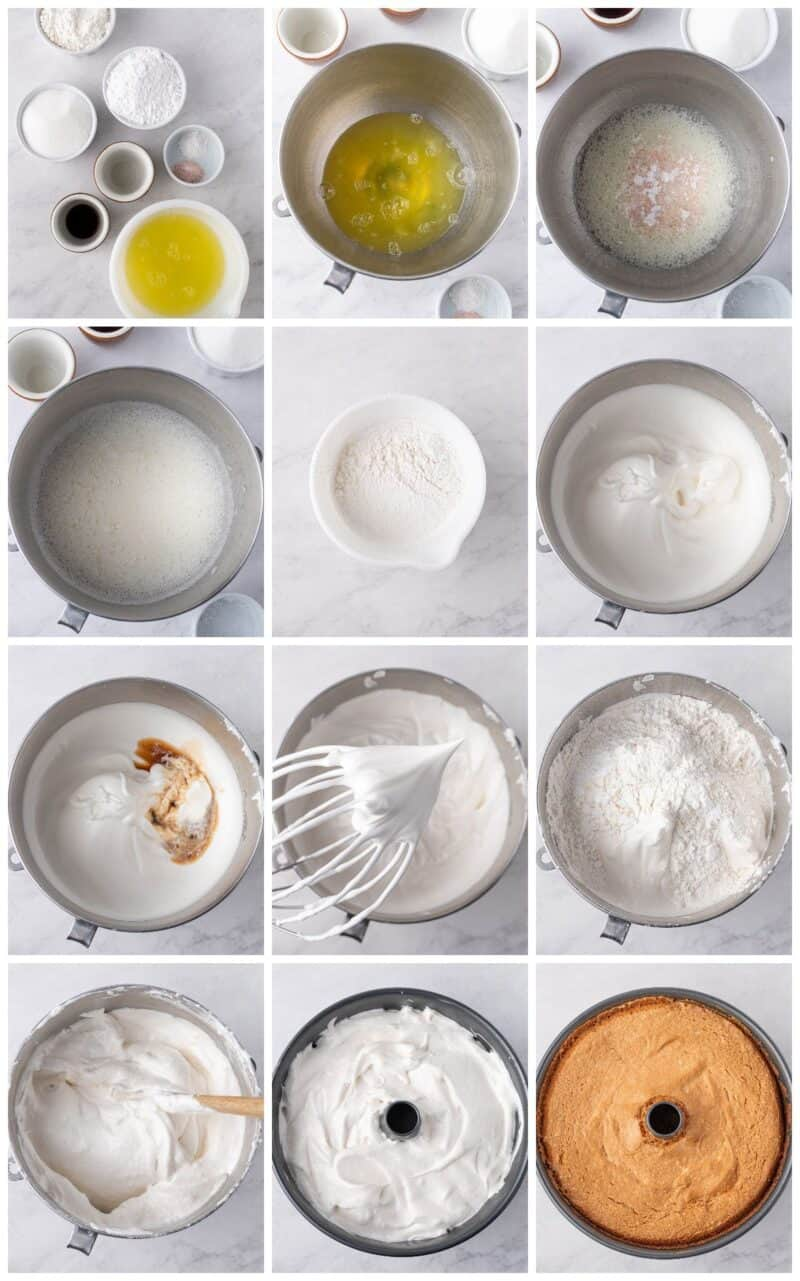 step by step photos for how to make lemon angel food cake