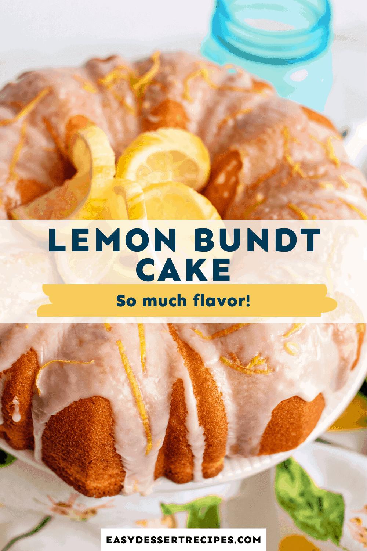 lemon bundt cake pinterest collage