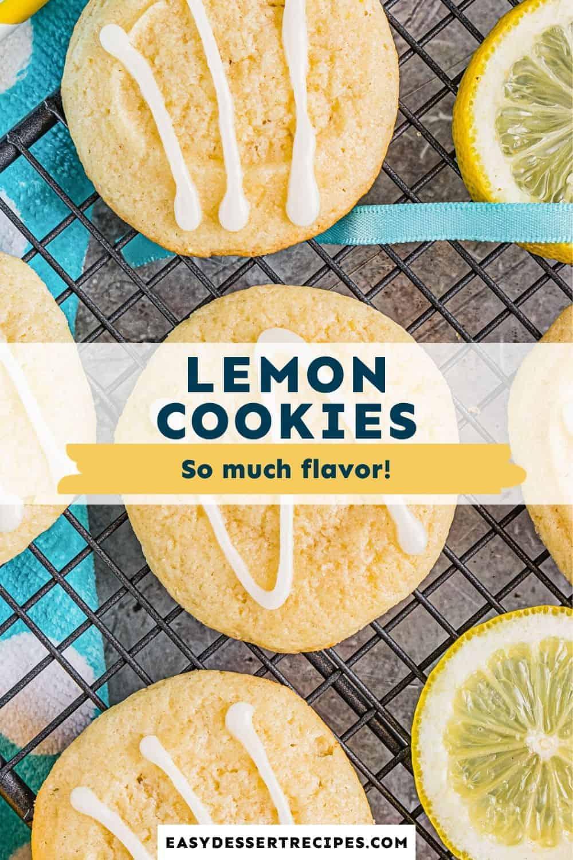 lemon cookies pinterest collage