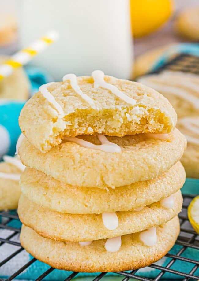 stacked lemon cookies
