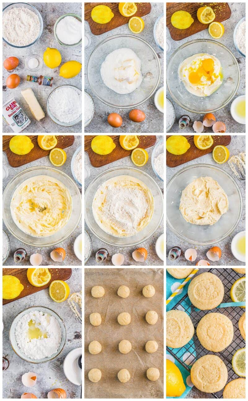 step by step photos for making lemon cookies
