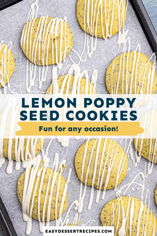 lemon poppy seed cookies pinterest collage