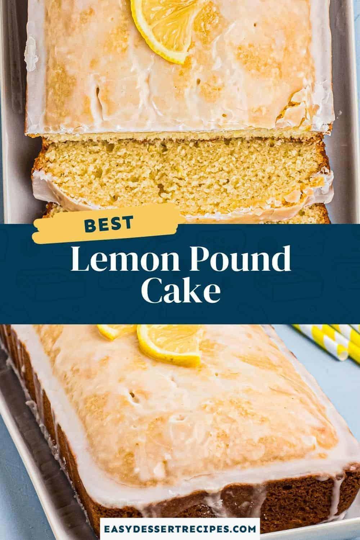 lemon pound cake pinterest collage