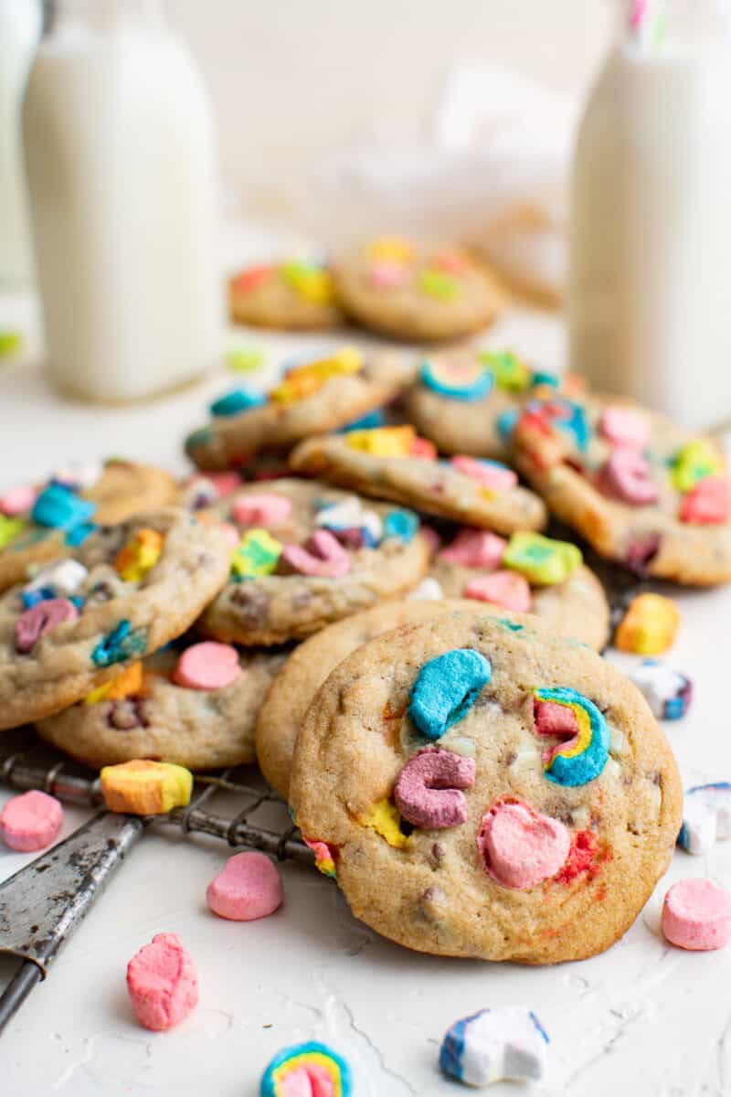 stacked lucky charms cookies
