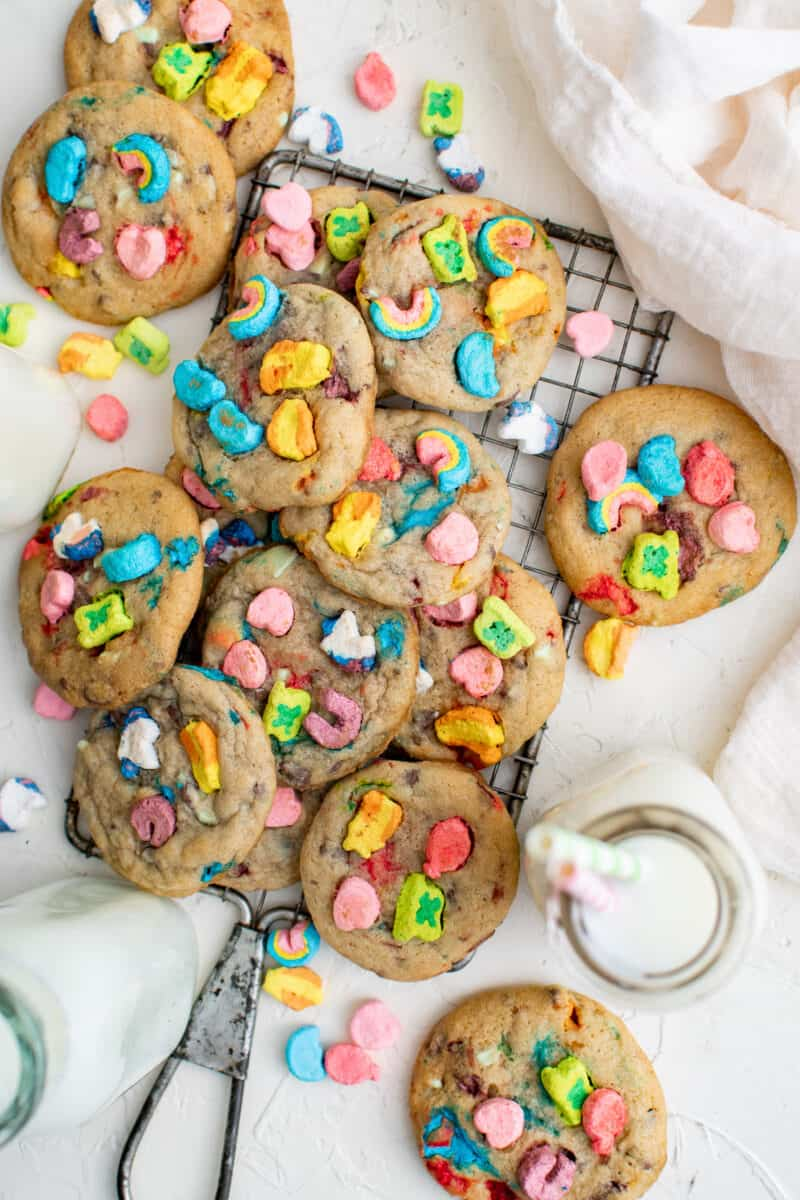 lucky charms cookies on table