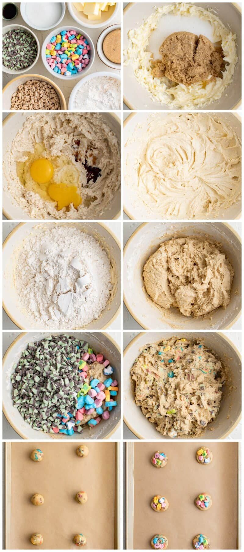 step by step photos of making lucky charms cookies