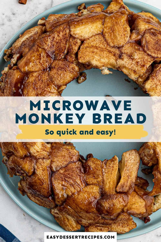microwave monkey bread pinterest collage
