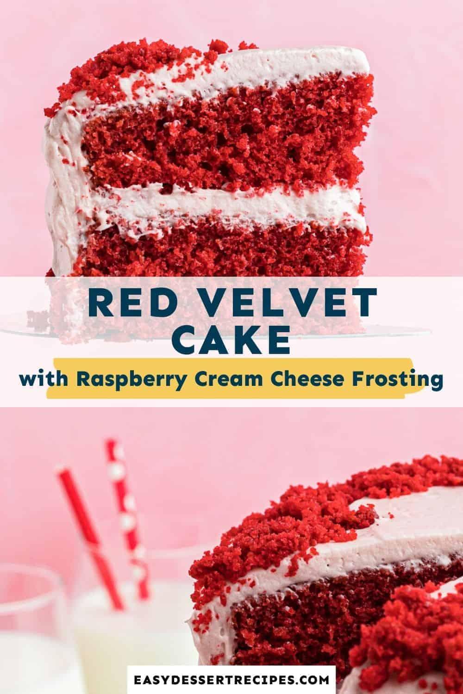 red velvet cake pinterest collage