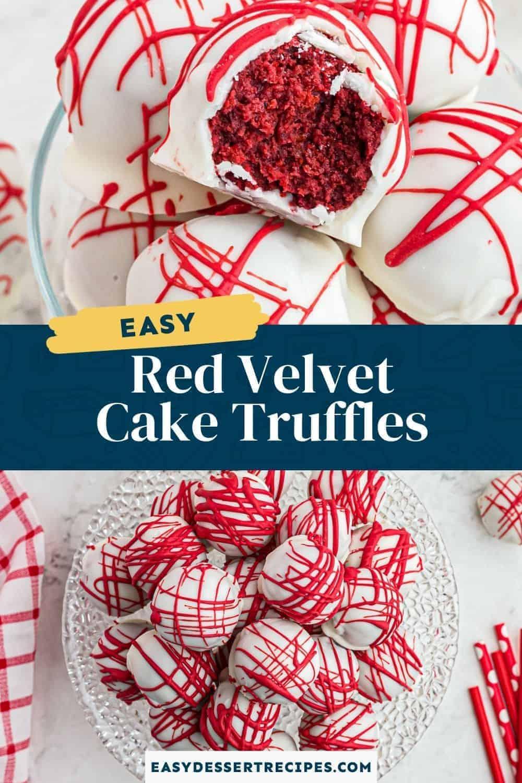 red velvet cake truffles pinterest