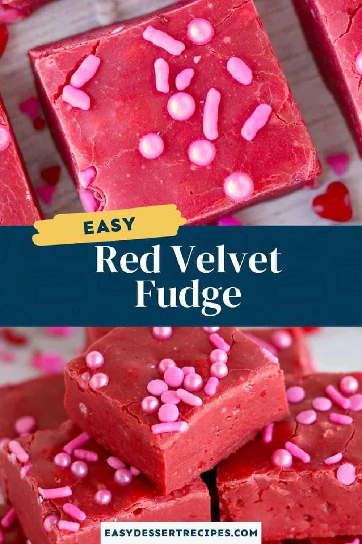 red velvet fudge pinterest