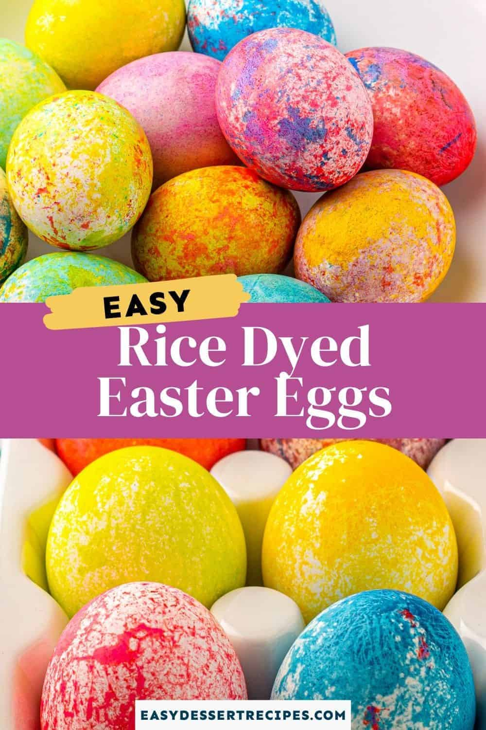 rice dyed easter eggs pinterest collage