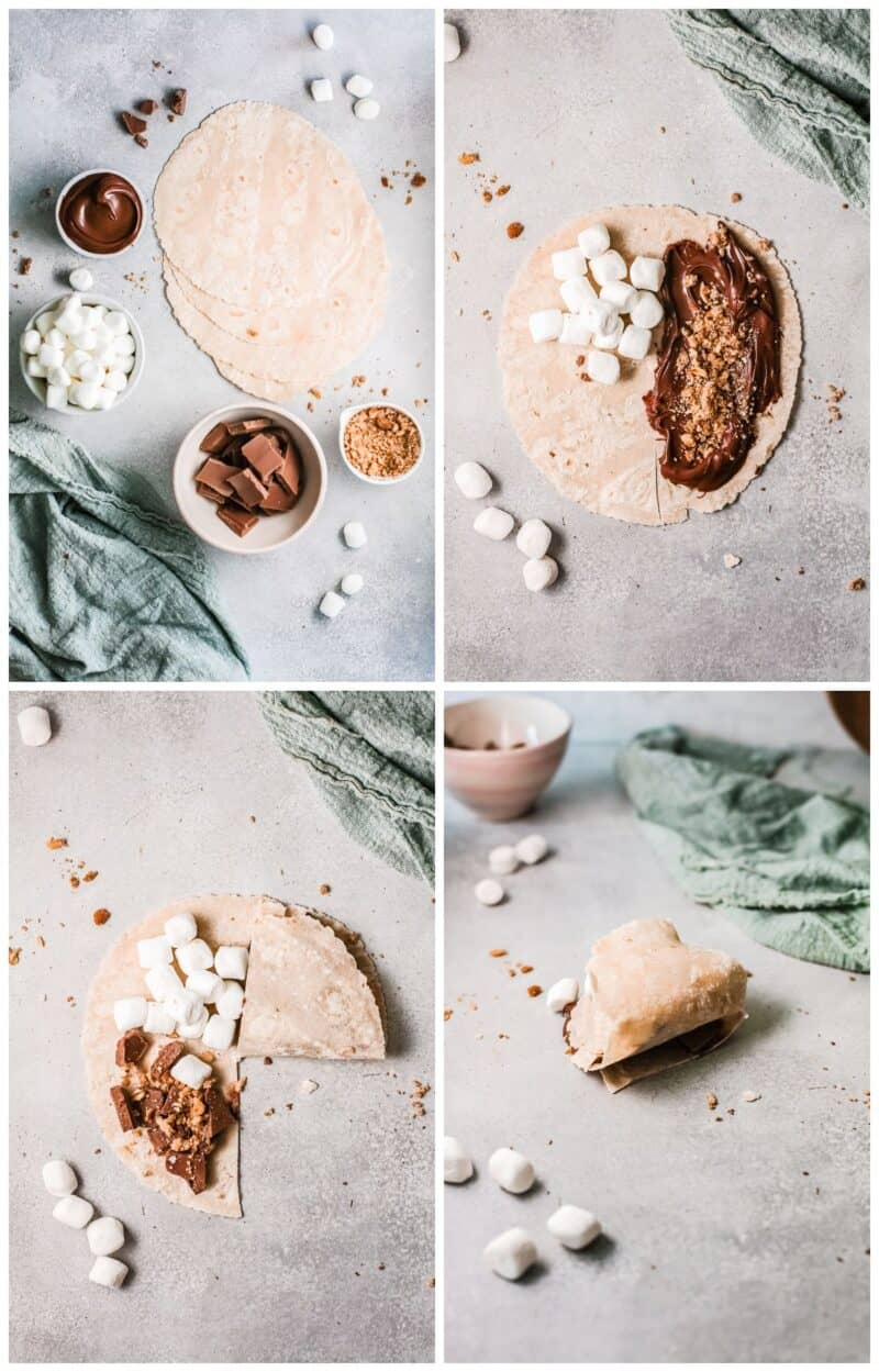 how to make foldover smores quesadillas