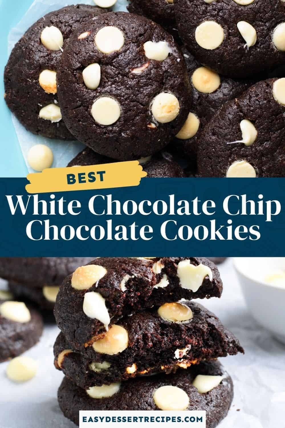 white chocolate chip chocolate cookies pinterest collage