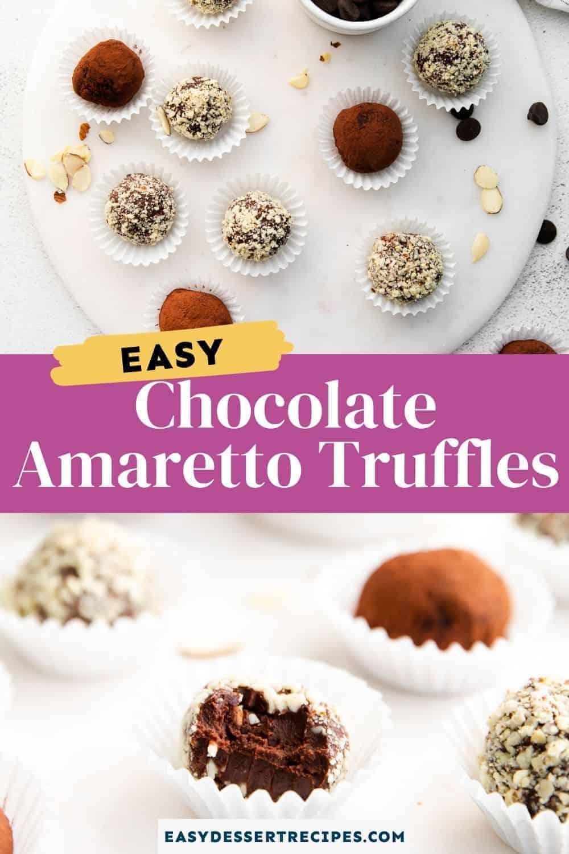 amaretto truffles pinterest collage