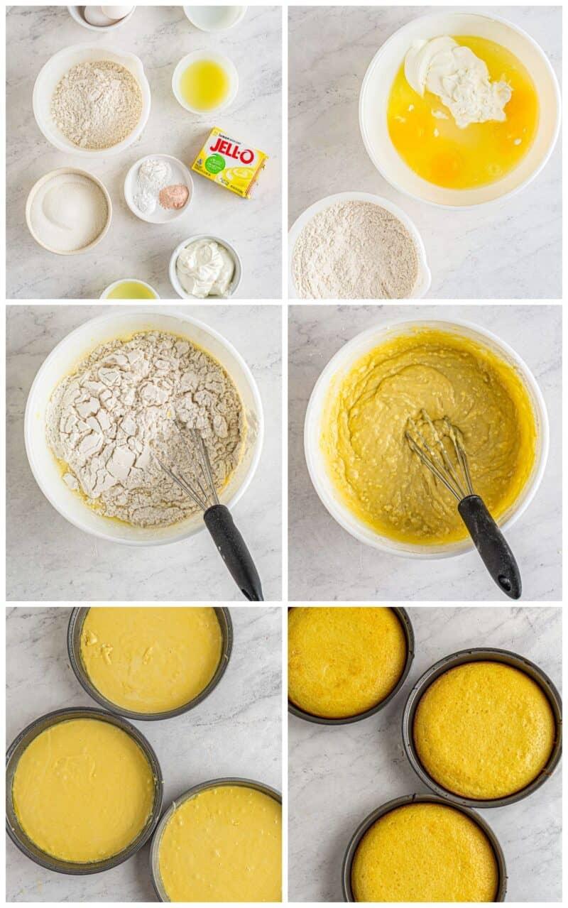 step by step photos for making lemon blackberry cake