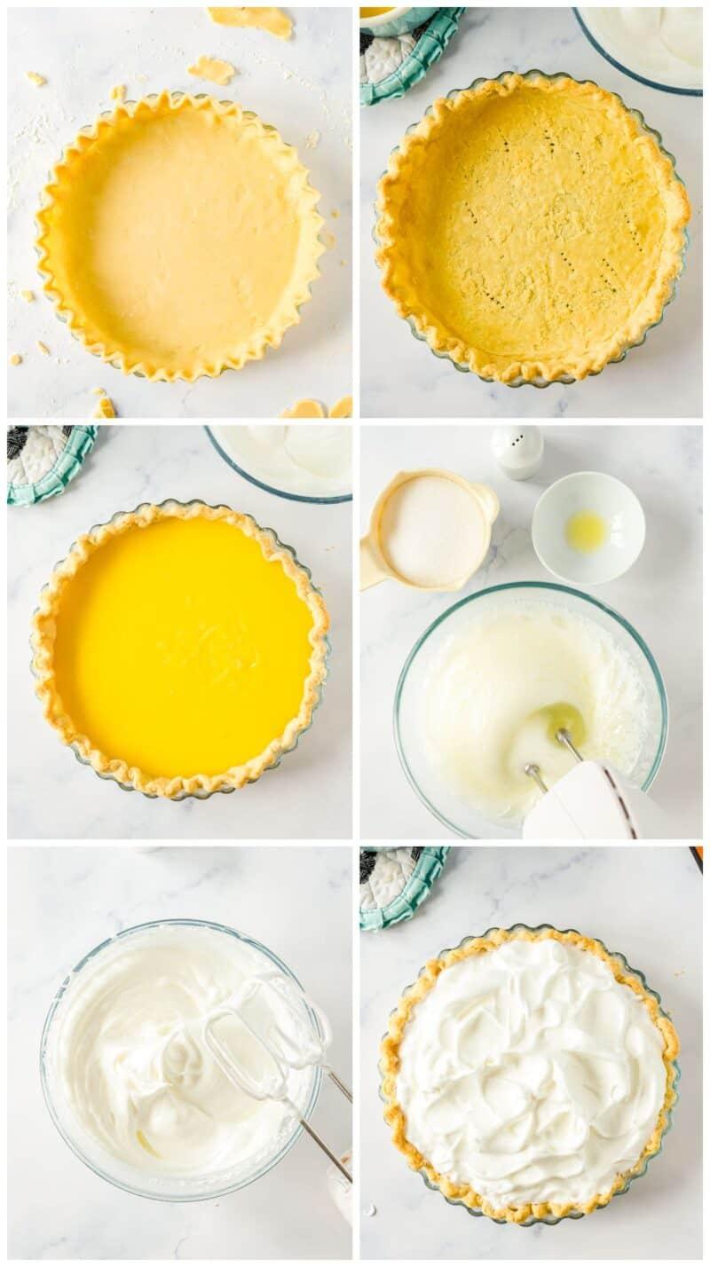 step by step photos for making lemon meringue pie